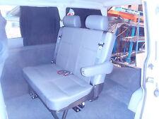 VW Transporter T5 Combo Tourer  Double Rear Van Seat with Inbuilt Seat Belts