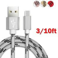 10FT Type-C USB Data Sync Fast Charging Charger Cable Cord for Samsung Galaxy S8