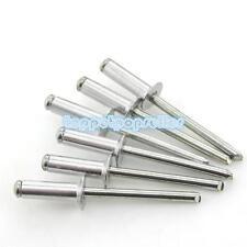 100Pcs M2.4-M5 Aluminum Blind Rivets Pop Rivets Dome Head End Zi-Plated
