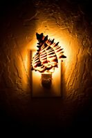 Black Murex Sea Shell Nightlight Kitchen Bathroom Beach Home Decor Craft( 1 Pc)