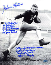 Johnny Lattner SIGNED 11x14 Photo Notre Dame STAT Heisman 53 PSA/DNA AUTOGRAPHED