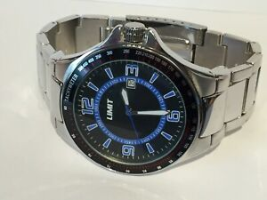 Mens New Limit Stainless Steel blue & Black Dial Watch Ref No. 5410