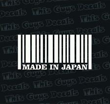 made in japan bar code vinyl decal car window sticker car graphics