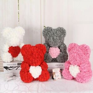 100pcs Teddy Bear Of Roses Foam Wedding Decorative Christmas Decor For Home DIY