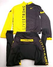 Nike Livestrong Bike Cycling Zip L/S Stretch Jersey Shirt/Pants Mens Medium