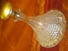 Oneida Lead Elegant Hand Blown Crystal Wine Decanter with Silver Plated Stopper