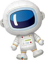 """LARGE FOIL SUPERSHAPE BALLOON ADORABLE ASTRONAUT 37"""" BIRTHDAY PARTY SUPPLIES"""