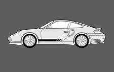 Porsche 911 996 Rayas Laterales Decal Sticker Set. (Carrera, Turbo, Targa, etc.)
