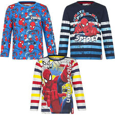 Neu Langarmshirt Pulli Jungen Spiderman Pullover blau rot grau 98 104 116 128#62