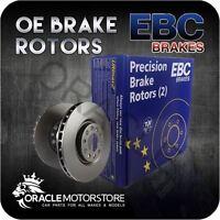 NEW EBC OE PREMIUM FRONT DISCS PAIR BRAKING DISCS OE QUALITY - D202