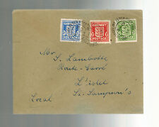 1944 Guernsey Channel Islands England Occupation Local Cover St Sampsons