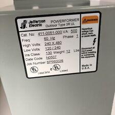 Jefferson Electric 411-0051-000 Outdoor Type 3R UL Transformer 500VA 1 Phase (C)