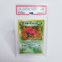 1998 Pokemon Japanese Team Rocket #45 Dark Vileplume - Holo PSA 9 MINT