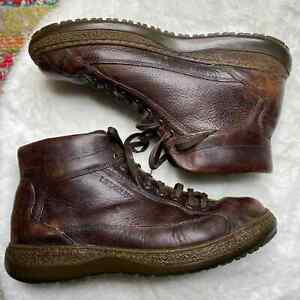 Mephisto Men's Size 11.5 Lace Up Ankle Boots Shoes Brown Leather Distressed