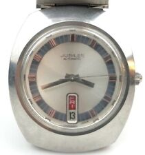 JUBILEE AUTOMATIC MENS WATCH DAY/DATE VINTAGE 1970'S SS