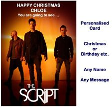 Personalised THE SCRIPT Tour 2020 Ticket Wallet Concert Card Birthday Christmas