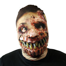 Monster Mouth Zombie Halloween Face Mask Adult Fancy Dress Scary Lycra Horror
