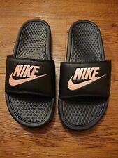 Nike Women's Flip Flops Back pink logo size 7