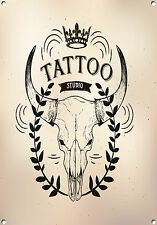 TATTOO STUDIO,RETRO,ENAMEL,VINTAGE STYLE METAL SIGN,658