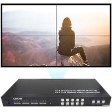 LINK-MI Seamless Switch 4x4 Matrix  2X2 Multi-View HDMI Video Wall Controller
