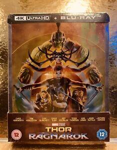 STEELBOOK Blu-ray / 4K  Thor Ragnarok [  Zavvi  ] Titre Tranche- MARVEL