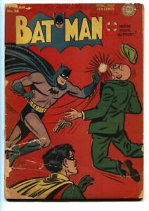 BATMAN #28 1945-JOKER STORY-ROBIN-GOLDEN AGE DC-ALFRED FR