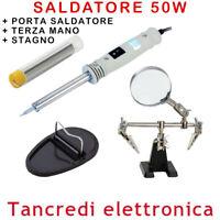 SALDATORE A STILO 50W STAGNO PORTA SALDATORE TERZA MANO SALDATURE SALDATURA