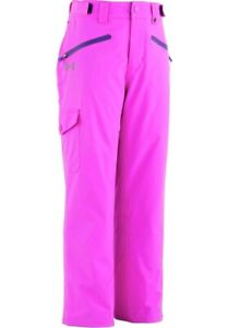 New Under Armour Girls Insulated Swiftbrook Pants Large L ColdGear Ski Snowboard