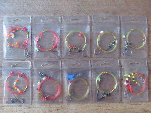 Sea fishing Rigs x 10 - High Quality Professional Shore and Boat Rigs - New Pack
