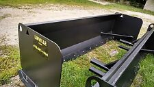 LINVILLE 10' SNOW PUSHER loader snowplow backhoe plow steel edge rubber availab