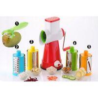 Multifunction Rotary Drum Grater Shredder Vegetable Fruit Slicer Stainless Steel