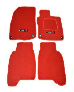 Honda Civic Type R FN2 - 4 Piece Car Mat - 2x Type R Logos