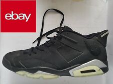 wholesale dealer 7e4ce 64808 Nike AIR JORDAN Vl Low Chrome Black Basketball Shoes Size US 15 Men s