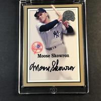 MOOSE SKOWRON 2000 FLEER GREATS OF THE GAME AUTOGRAPH AUTO NEW YORK YANKEES MLB
