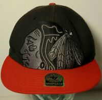 CHICAGO BLACKHAWKS NHL National Hockey League BLACK HAT SNAPBACK CAP 47BRAND