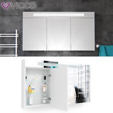 Vicco 3d LED Spiegelschrank Weiß Badschrank Badspiegel Badezimmerspiegel  120 Cm