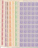Stamp Germany AM Mi 1-9 Sheet 1946 US Allied Military Occupation Set MNH