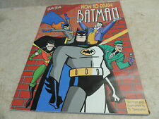How to Draw Batman, Walter Foster, Templeton, 1998, Oversize, RARE, Great Shape