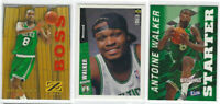 1996-97 Antoine Walker 3pc Card Lot Boston Celtics Upper Deck RC, Fleer, SKybox