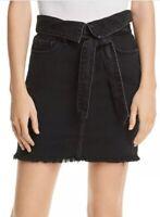 Nobody Denim Womens Sz 27 Vertigo Denim High Waist A-Line Skirt Black Deja Vu
