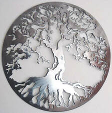 Abstract Stainless Steel Wall Sculpture Tree Of Life Art Metal Decor Laser Cut