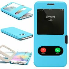 Urcover® Double View Wallet Case   Magnetic Closure Smartphone Protective Cover