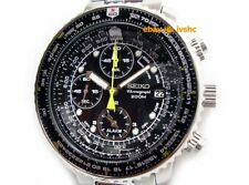 SEIKO SNA411 SNA411P1 Flightmaster Pilot Chronograph Alarm Original Box Manual @