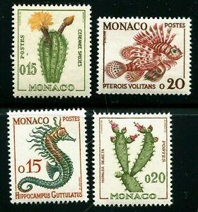 MONACO   SCOTT# 470-473  MNH   FISH/CACTUS TOPICAL