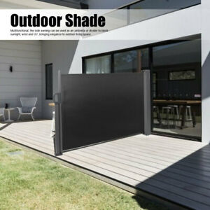 Retractable Side Awning Folding Screen Patio Garden Privacy Divider Wall Screen
