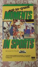 NOT SO GREAT MOMENTS IN SPORTS BY SPORTS ILLUSTRATED HBO VHS TIM MCCARVER NR
