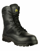 Amblers COMBAT Safety Mens Black Waterproof Military Police Boots UK4-14