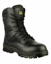Amblers Safety Combat metal hombre impermeable cordones Non-safety botas negro 43