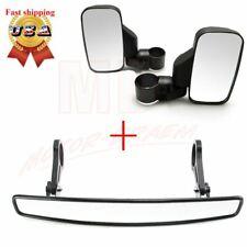 1.75� Breakaway Side Mirrors & Rear View Mirrors Set For Polaris Ranger Rzr Utv