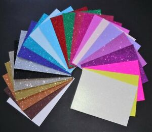 A4 Glitter Card Soft Touch Low Shed Choice of 26 Colours and various Quantities